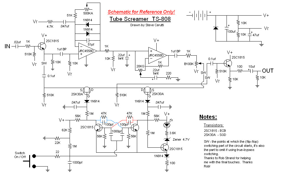 TONEHOME the World of Vintage Guitar Effect Pedals TS808 Tube – Japanese Fender 5 Way Switch Wiring Diagram